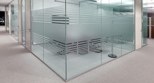 frosted design in office