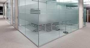 Frosted office partitioning